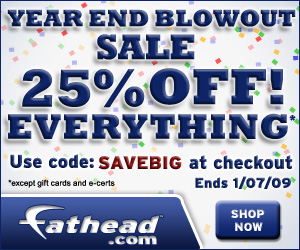 Free Shipping On Everything at Fathead.com For Cyb