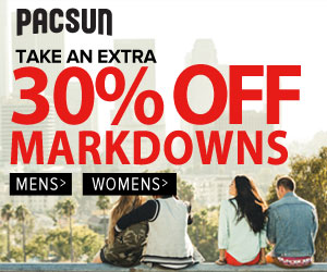 Incredible Blue Dot Sale by PacSun