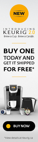 Free Shipping on all new Keurig 2.0 Brewers.
