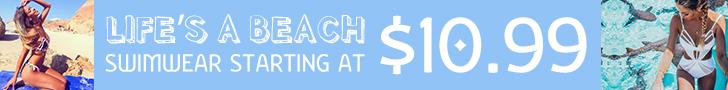 HOT SLEEK SWIMWEAR! Be Adventurous on a Budget! FLAT $10.99!