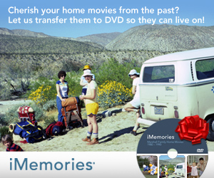 Transfer memories to DVD - iMemories 15% off