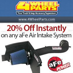 $40 Instant Rebate on any aFe Air Intake