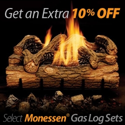 Get 10% off Select Monessen Gas Logs!