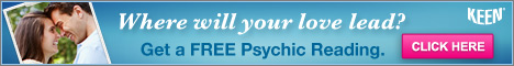 Click for a FREE Psychic Reading from                                     Keen!