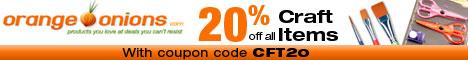 20% Off All Craft Supplies!