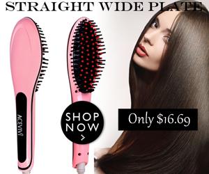 30% Off, $16.69  Hair Straightener Comb, the Brush heard round the world.