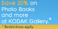 Get 20% off photo books at Kodak Gallery