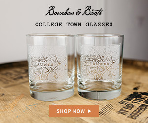 Bourbon & Boots College Town Whiskey Glasses