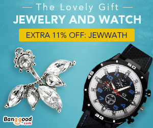 Extra 11% OFF For Jewelry and Watch
