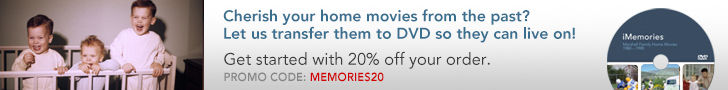 Transfer your memories to DVD - First One's Free