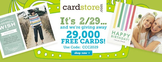 It's 2/29! Cardstore.com 29,000 FREE Cards