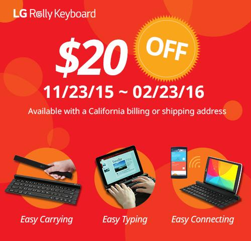LG Rolly Keyboard This is the best portable bluetooth keyboard which the size and shape are optimized for portability with four-segmented folding design that can be held in one hand. This is a convenient portable keyboard that not only minimizes typo rates by using a standard qwerty keyboard but provides an excellent sense of touch like using an ordinary laptop by applying pentagraph type keys. Built-in stand It enhances the ease of typing by giving sustained stability in any devices ranging from a smartphone to 10 inch tablet using the built-in stand. Auto on/off It is convenient to use and automatically turned on and off when opening out or folding the keyboard. In addition, since it can be automaically paired with a device (*phone/tablets) when the power is on, you can use it immediately without the difficult connection process. Dual pairing The rolly keyboard can be paired with two different bluetooth devices at the same time, allowing users to switch connections by simply pressing 'fn+d' key.