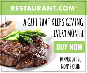NEW! Dinner of the Month Club at Restaurant.com