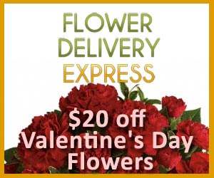 $20 OFF Valentine's Day Flowers, Discount Coupon at Flower Delivery Express