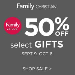 50% off select gifts; Sept 9 - Oct 6