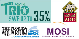 The Tampa Trio Triplet Pass - Save up to 35% on Tampa Attractions!