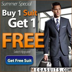 Buy 1 Suit, Get 1 FREE! MegaSuits.com 250x250