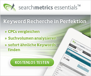 Searchmetrics Essentials - Keyword Recherche