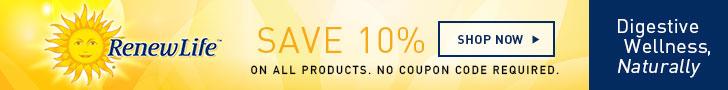 Renew Life Save 10%