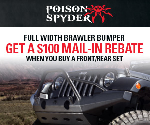 Buy front & rear Brawler Full Width Bumper with Shackle Tabs and get a $100 mail in rebate