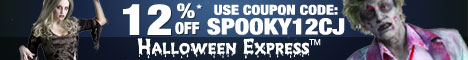 Save 12% on $35 or more at Halloween Express