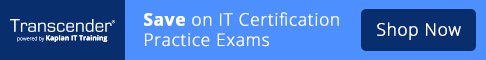 Transcender - Save on IT Certification Practice Exams