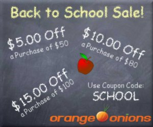 Back to School Sale at OrangeOnions