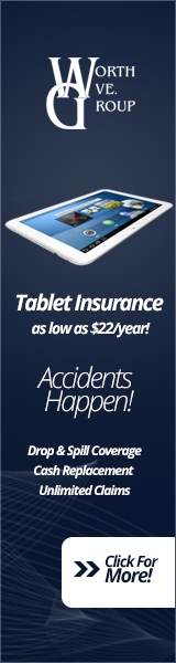 Tablet insurance available.  Get yours today!