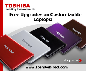 Toshiba - Free Upgrades on Customizable Laptops!