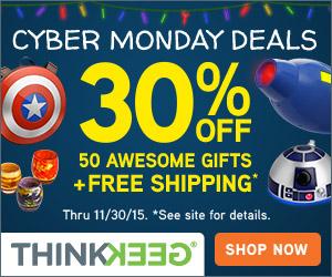 Think Geek cyber monday deals