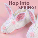 download free bunny knitting slippers pattern