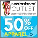 New Balance Apparel Sale 50% Off