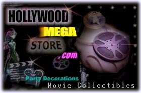 Hollywood Mega Store party stuff, memorabilia, posters