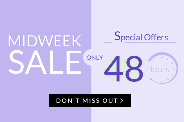 Every Midweek Sale: 65% OFF for Everything