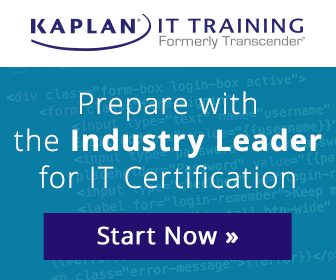 Prepare with the industry leader for IT certification, Kaplan IT Training, formerly Transcender