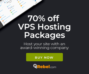 70% off VPS hosting packages at Rebel.com