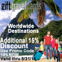 Selection of Caribbean vacation gift cards in various denominations at gifttravelcards.com