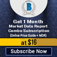 Get 1 Month Market Data Report Combo Subscription (Online Price Guide +MDR)�for $16