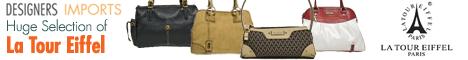 Genuine La Tour Eiffel Handbags, Wallets and More