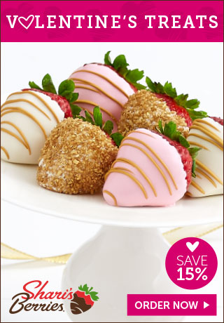 15% off Valentine's Strawberries & Sweet Treats (min $29)