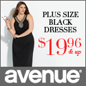 Plus Size Black Dresses at Avenue