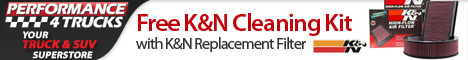 Free K&N Cleaning Kit with K&N Replacement Filter