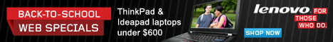 Lenovo US Back to School ThinkPad Specials