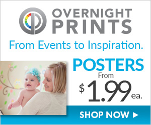 Shop OvernightPrints.com now to Create Custom Posters from $2.99 each!