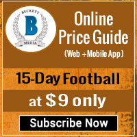becket football cards price guide values