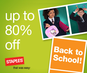 Get back to school stavings at Staples.
