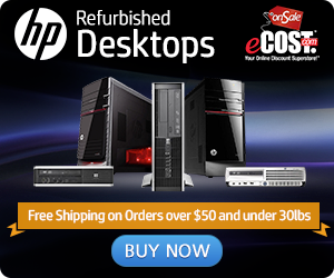 Refurbished HP Desktops: FREE Shipping on Orders over $199 & under 20lbs.