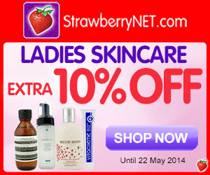 Ladies Skincare.  Extra 10% off all women's skincare at StrawberryNET.com.
