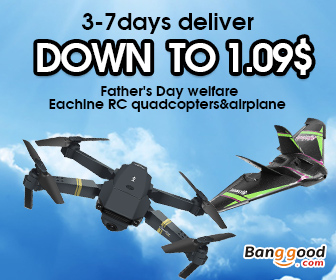 Mid Year Big Promotion! 25% OFF Coupon for RC Quadcopter & Airplane in US Warehouse