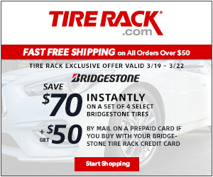 Tire Rack Michelin Coupon - $70 MasterCard Reward Card